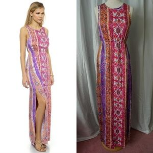 NWT MINKPINK Magenta Carpet Maxi Dress